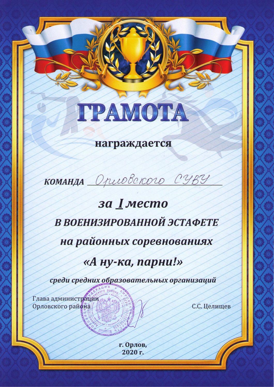 18 Команда Орл СУВУ 1 м