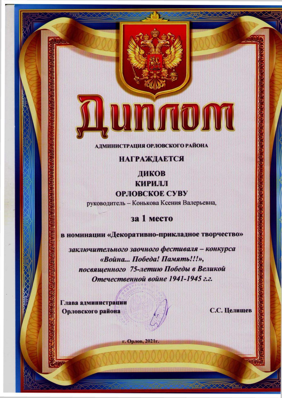 37 Диков Кирилл